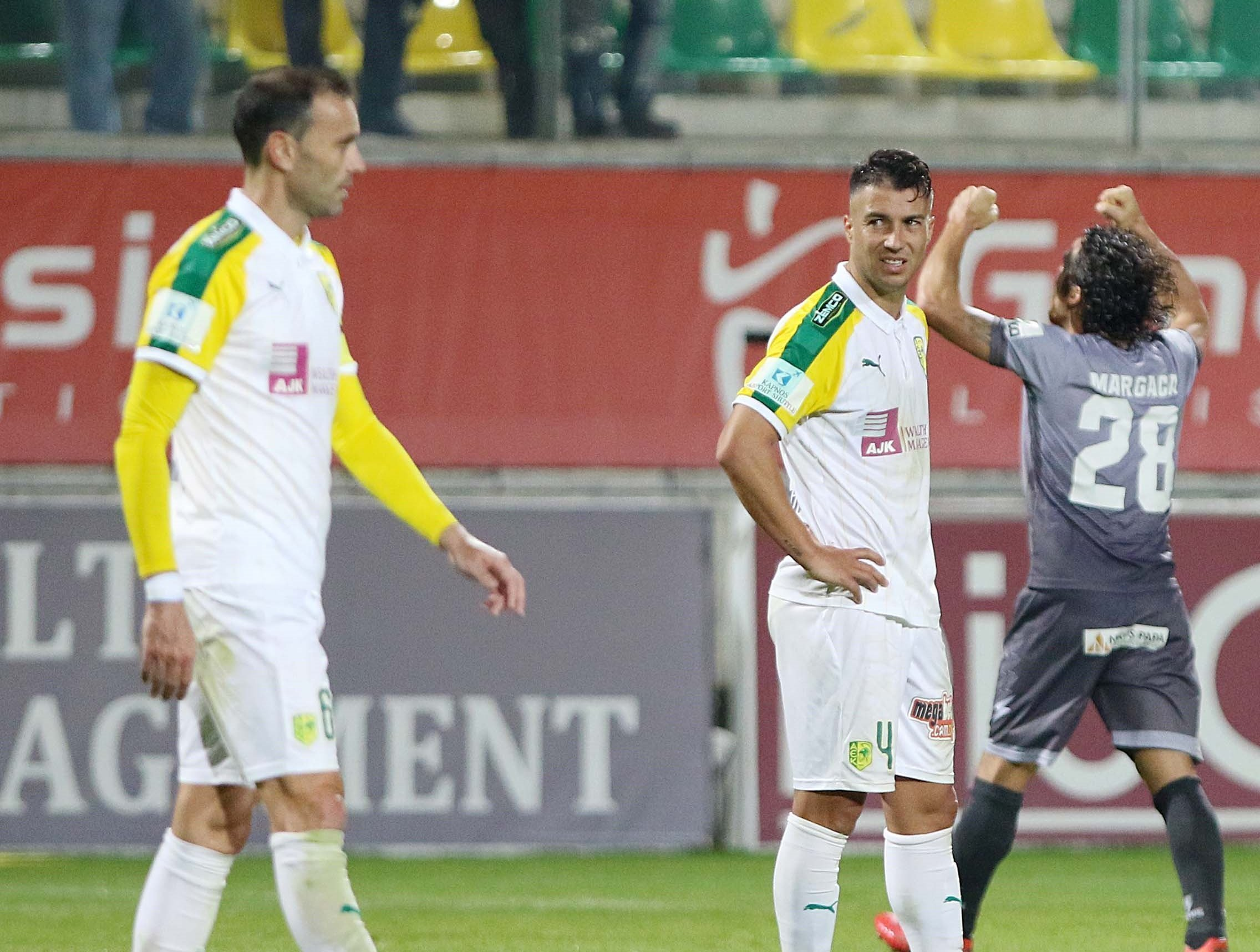 Τέταρτο συνεχόμενο παιχνίδι χωρίς νίκη στην ΑΕΚ. Αυτή είναι η ουσία του  παιχνιδιού κόντρα στη Νέα Σαλαμίνα. Οι «κιτρινοπράσινοι» δεν κατάφεραν να  ... f0d918706cc