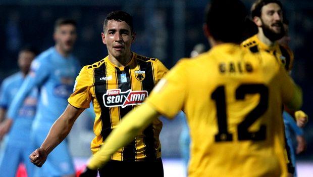 "H ΑΕΚ νίκησε επιβλητικά με 4-0 τον ΠΑΣ Γιάννινα στους ""Ζωσιμάδες"" με δύο  γκολ του Εσεκιέλ Πόνσε e444333771c"