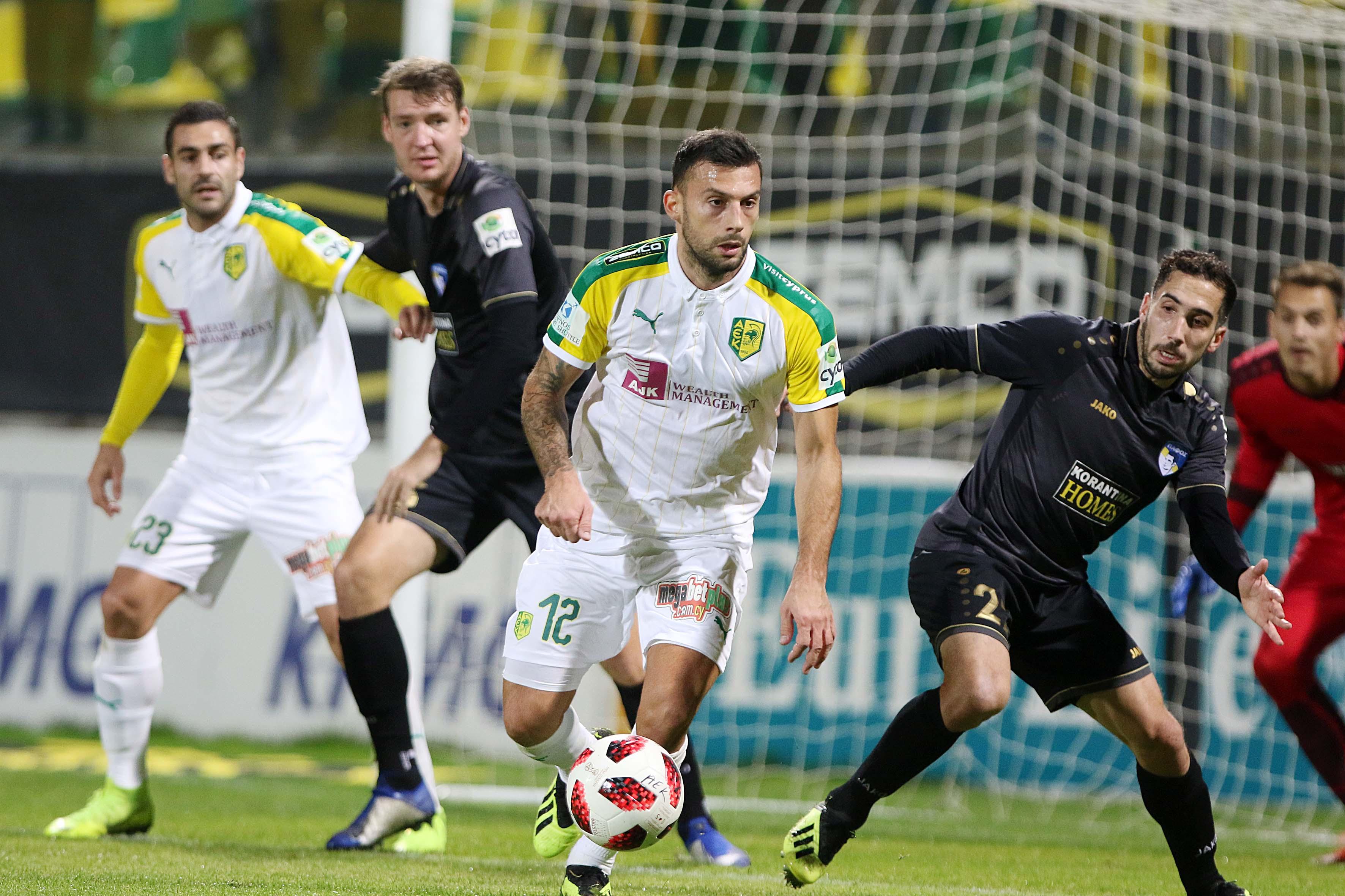 Η Πάφος έκανε πάλι το θαύμα της! Αγωνιζόμενη με πολλές απουσίες υποχρέωσε  σε ισοπαλία 1-1 την ΑΕΚ στην «Αρένα» στον εξ αναβολής αγώνα της πρεμιέρας  του ... fddfbc9f248